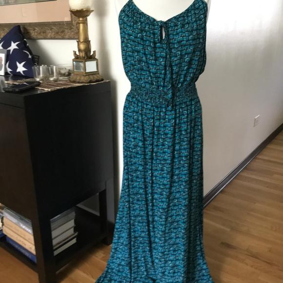 Faded Glory Dresses & Skirts - Spaghetti Strap Print Plus Size Maxi Dress